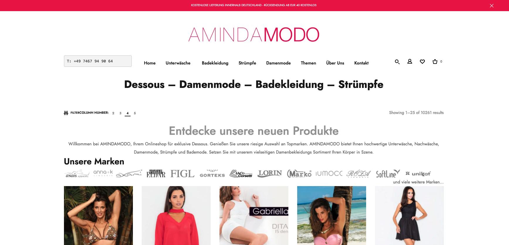 AMINDAMODO Exclusive Dessous & Unterwäsche für die Feminine Frau